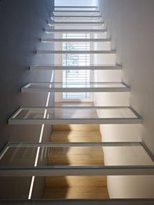 trappe i glas