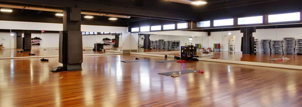 Spejlvæg fitnesscenter